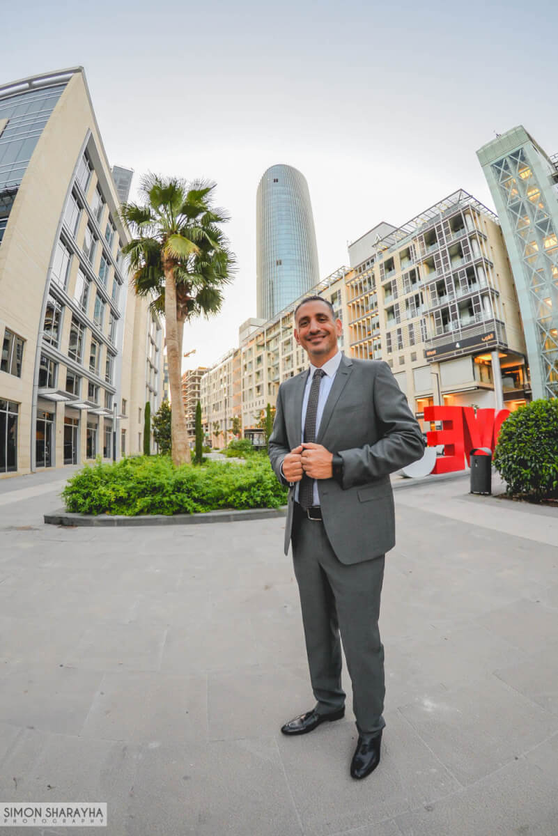 rotana tower, thinking man pose, business man posing to camera, boulevard abdali, amman, jordan